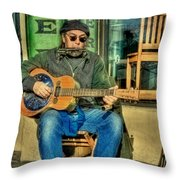 Concert At The Deli Throw Pillow