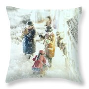 Concert In The Snow Throw Pillow