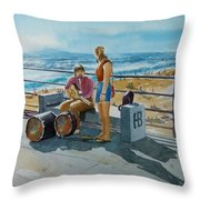 Concert In The Sun To An Audience Of One Throw Pillow