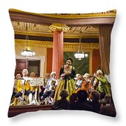 Concert In Vienna Throw Pillow