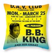 Concert Poster Throw Pillow