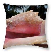 Island Conch Shell Throw Pillow