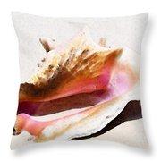 Conch Shell - Listen Throw Pillow