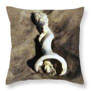 Conch Shell Spiral Throw Pillow