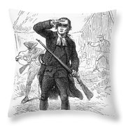 Concord: Minuteman, 1775 Throw Pillow by Granger