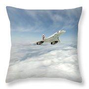 Concorde Legend Throw Pillow by J Biggadike