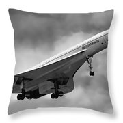 Concorde Supersonic Transport S S T Throw Pillow