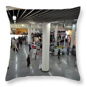 Concourse At People's Square Subway Station Shanghai China Throw Pillow