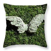 Concrete Angel Throw Pillow