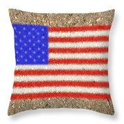 Concrete Flag Throw Pillow