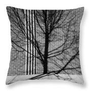 Concrete Tree II Throw Pillow