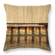 Concrete Wall And Water 1 Throw Pillow
