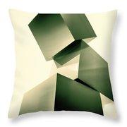 Condescending Cubes Throw Pillow by Bob Orsillo