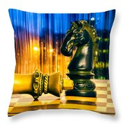 Condescending Knight Throw Pillow