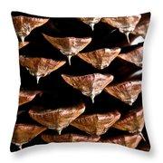 Cone Close Up Throw Pillow