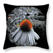 Coneflower Gold Throw Pillow