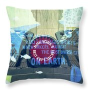 Coney Island Angel Throw Pillow