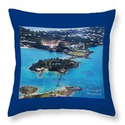 Coney Island Bermuda Aerial Throw Pillow