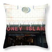 Coney Island Bmt Subway Station Throw Pillow