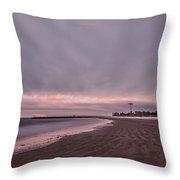 Coney Island Bound Throw Pillow by Evelina Kremsdorf