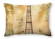 Coney Island Eiffel Tower Throw Pillow