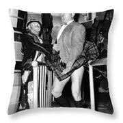 Coney Island Fun House Throw Pillow