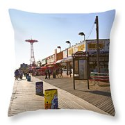 Coney Island Memories 8 Throw Pillow
