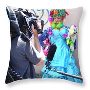 Coney Island Oddity Throw Pillow