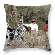 Confederate Battery Throw Pillow