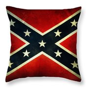 Confederate Flag 4 Throw Pillow