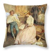 Confederate Hospital, 1861 Throw Pillow