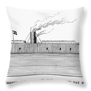 Confederate Ironclad, 1862 Throw Pillow