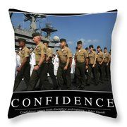 Confidence Inspirational Quote Throw Pillow by Stocktrek Images