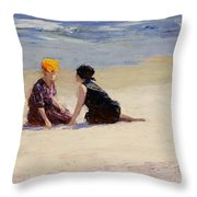 Confidences Throw Pillow by Edward Henry Potthast