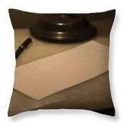 Confidential Letter Throw Pillow