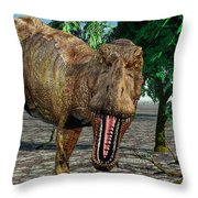 Confrontation With A Carnivorous Throw Pillow