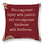 Confucius On Kindness Throw Pillow