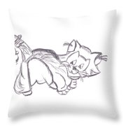 Confused Figarro Throw Pillow