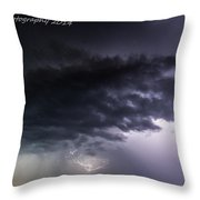 Confused Lightning Throw Pillow