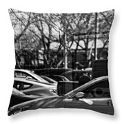 Confusing Commuter Reflections Throw Pillow