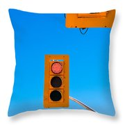 Confusing Green Red Traffic Lights Sky Copyspace Throw Pillow