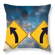 Confusing Road Signs Throw Pillow