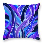 confusion Blue Throw Pillow