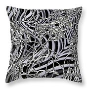 Confusion In Tangles  Throw Pillow