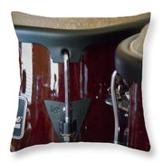 Congas Throw Pillow