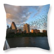 Congress Avenue Bats Throw Pillow