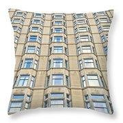Congress Plaza Hotel Windows Throw Pillow