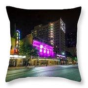Congress Street In Downtown Austin Throw Pillow