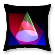Conic Section Ellipse Poster Throw Pillow