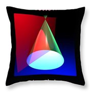 Conic Section Hyperbola Poster Throw Pillow